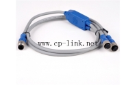 M12 one male to two female connector cable