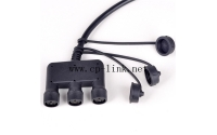 Power cable 3 pin waterproof with cap