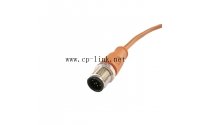 M12 8 pin male cable orange