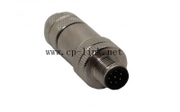 M12 industry sensor 8 pin male connector waterproof with shield