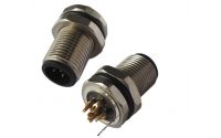 M12 B coding 5 pin male connector with ground