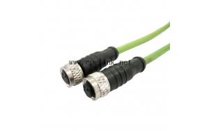 M8 3 pin female to female cable